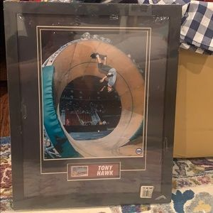 Tony Hawk picture framed